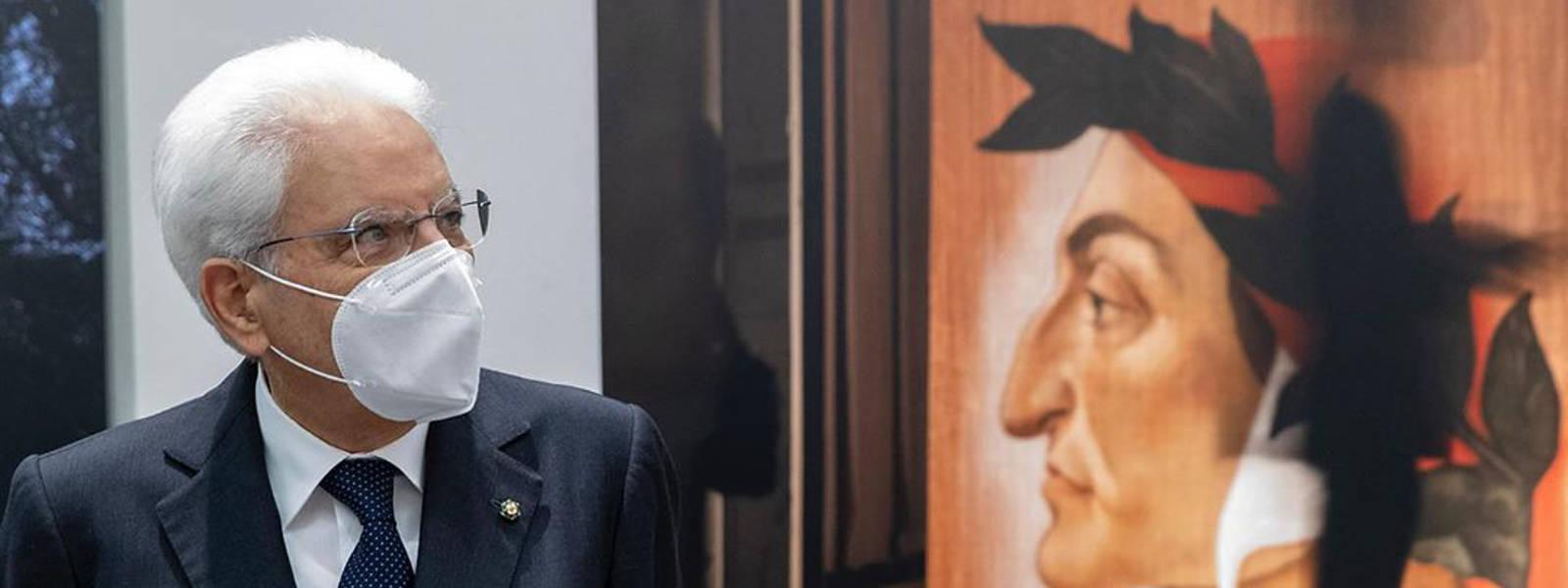 Mostra Dante Plus con Presidente Mattarella